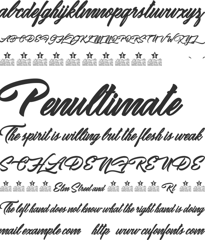 Ipanema Personal Use font preview