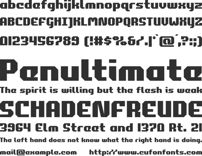 Commonwealth font preview