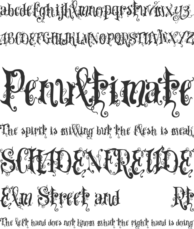 VTKS Dear Love font preview