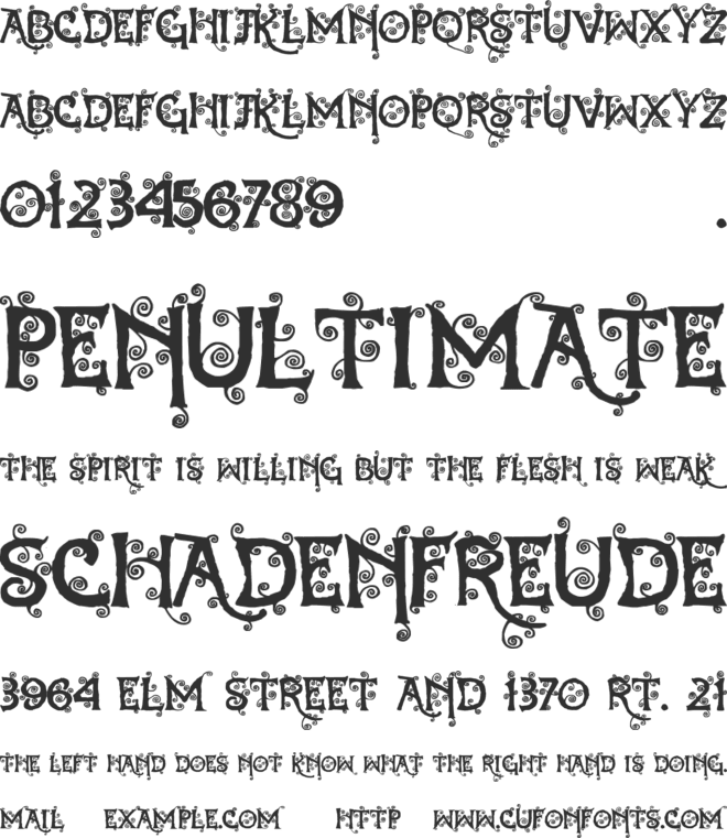 Dearest Dorothy font preview