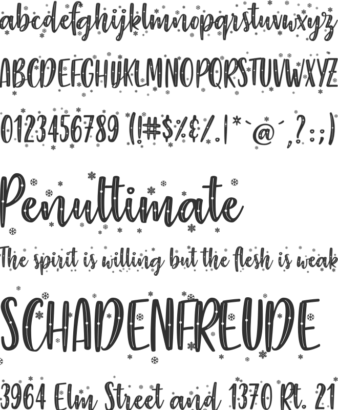 The Perfect Christmas font preview