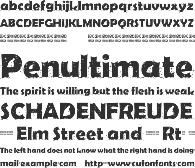 First Christmas font preview