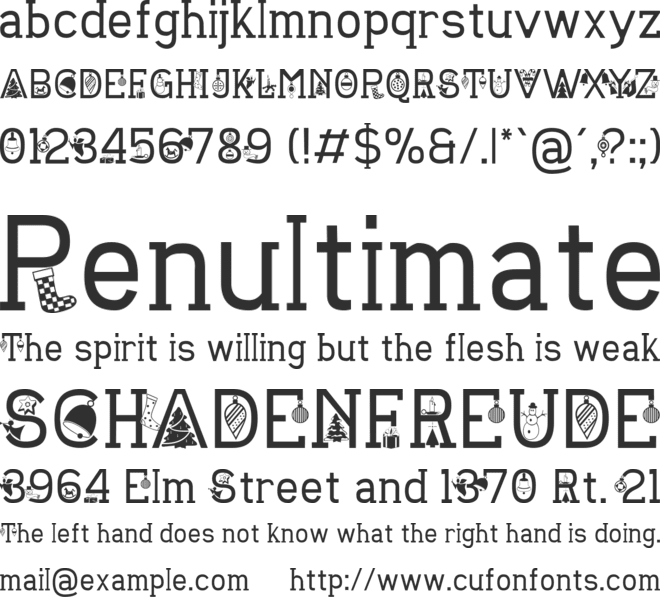 CHRISTMAS SOUNDS font preview