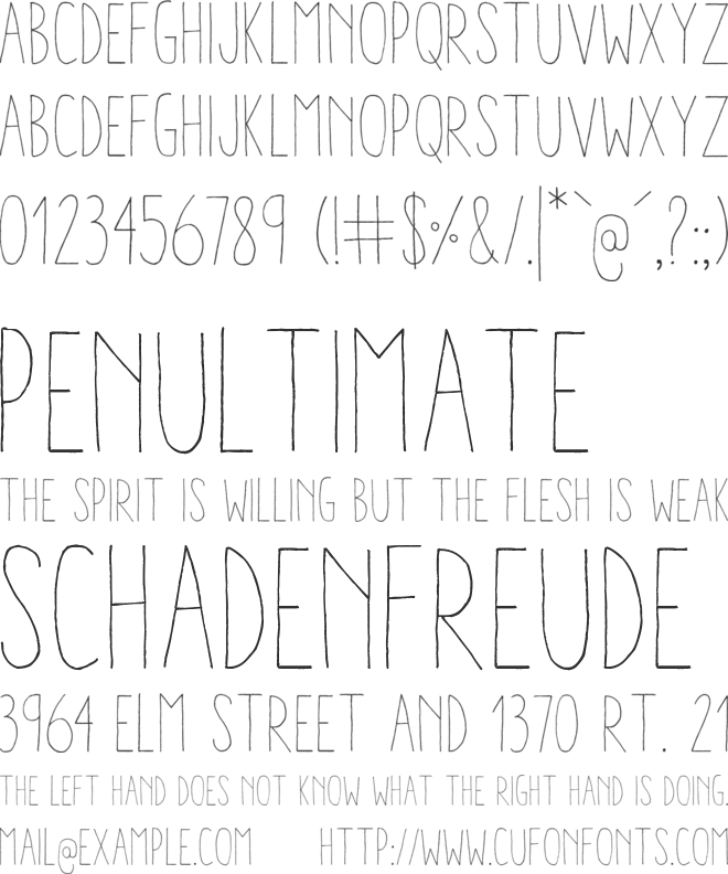 Aracne Condensed Light font preview