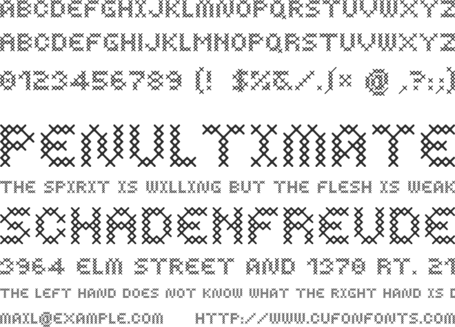 Costura font preview