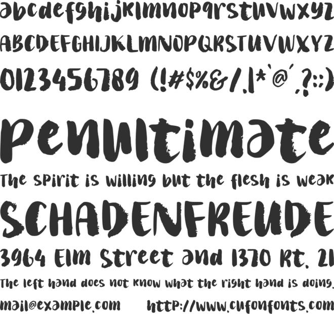 Wakaharo font preview