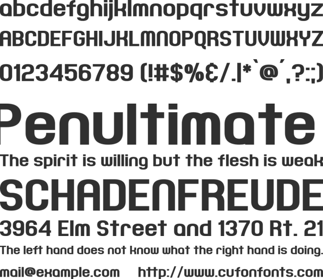 Joyful Theatre font preview