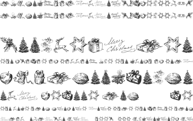 Christmas Nativity TFB font preview