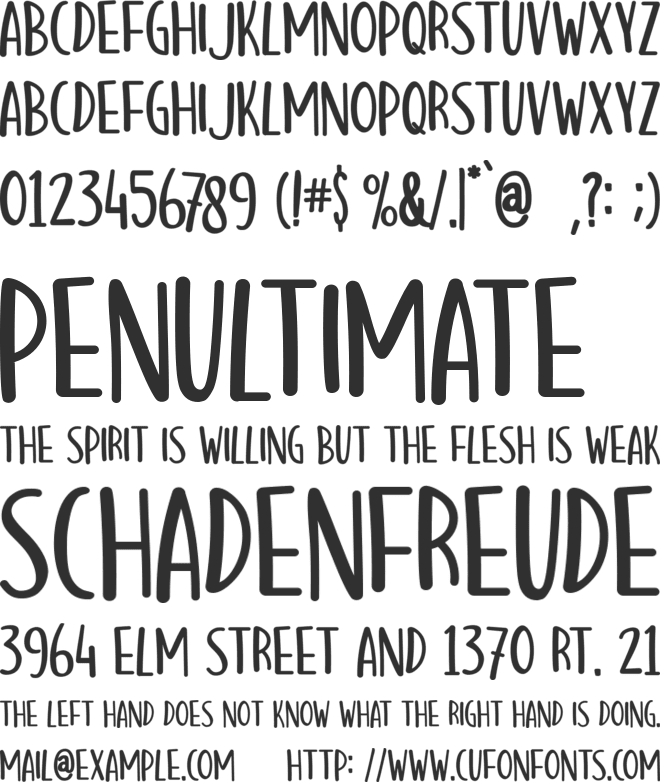 Hello Mozza font preview