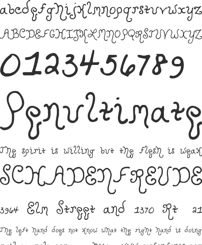 Kristen Curly font preview