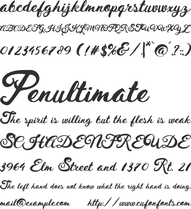 Husty Brush font preview