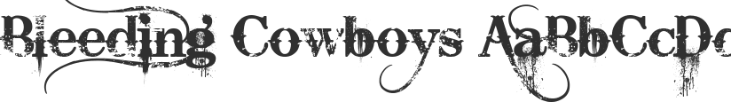 Bleeding Cowboys font download