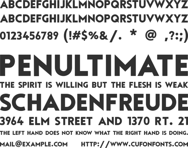 Tourmaline font preview