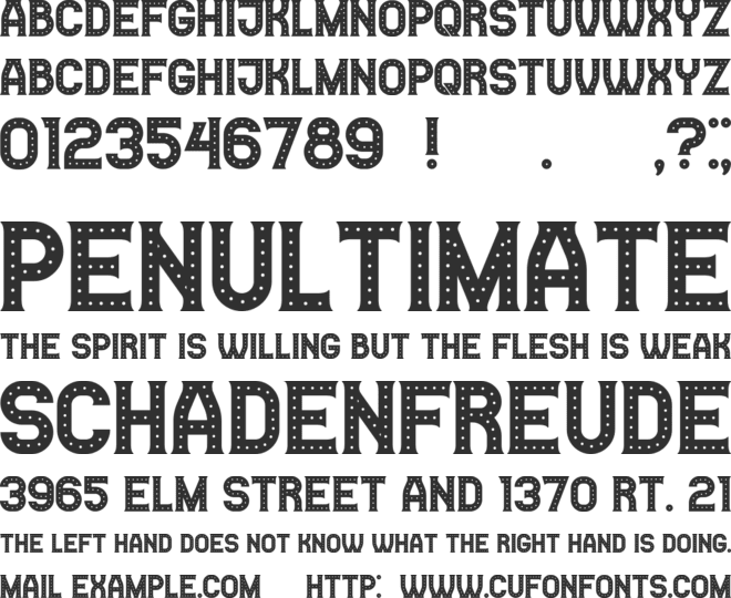 Casino font preview
