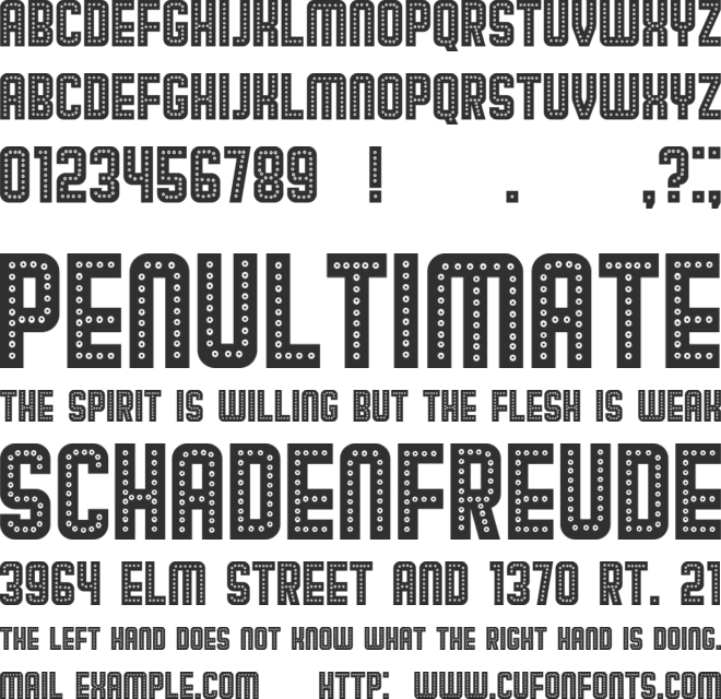 Broadway font preview