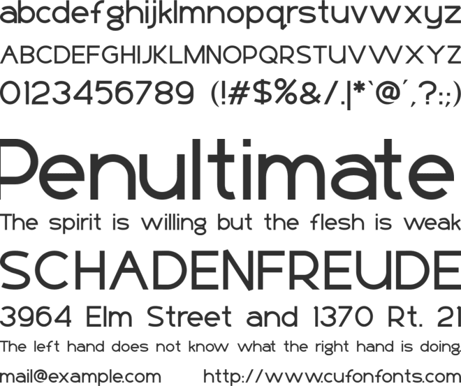 Basico font preview