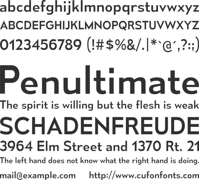 Mesmerize font preview