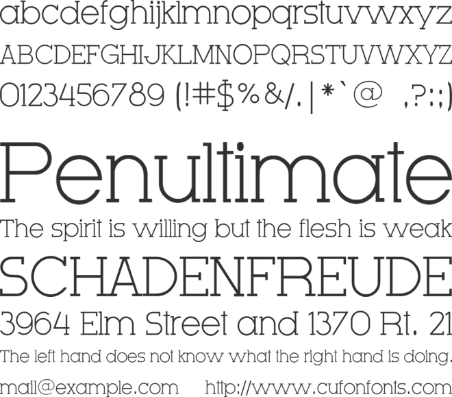 Very Fine Serif font preview