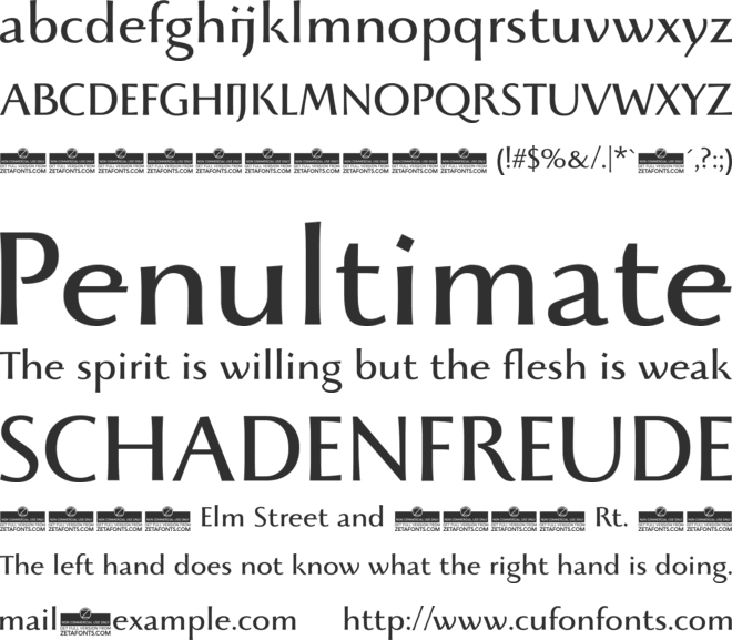 Beatrix Antiqua font preview