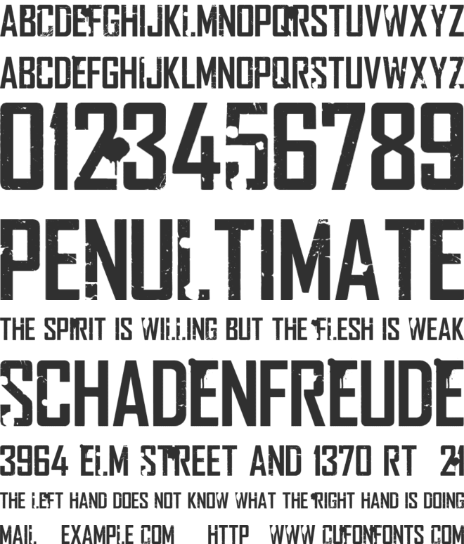 Rocketship Town font preview