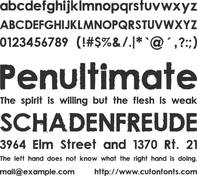 Nu Century Gothic font preview