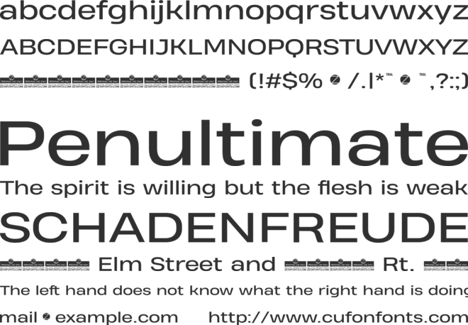 Heading Pro Wide Trial font preview