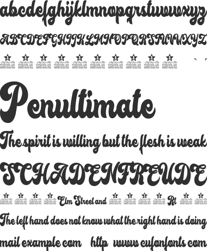 Lost Sunset Personal Use font preview
