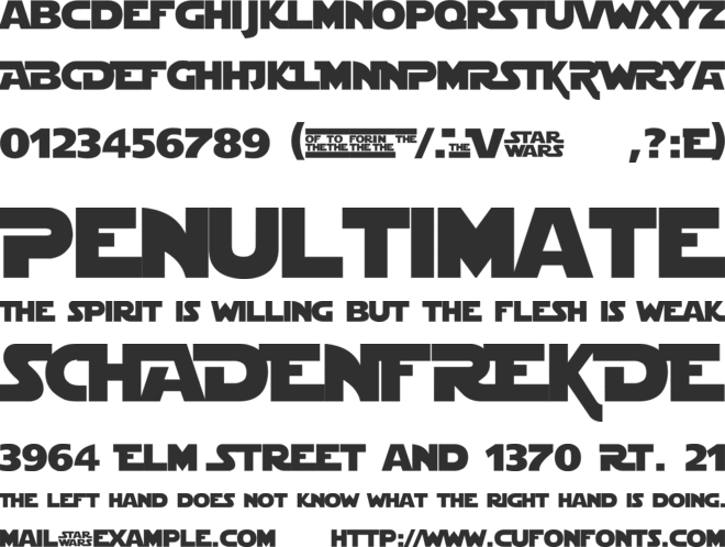 StarJedi Special Edition font preview
