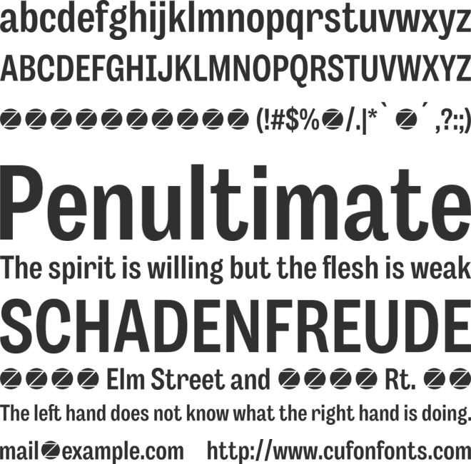 Body Grotesque Slim font preview