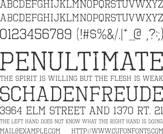 Octin Vintage Free font preview
