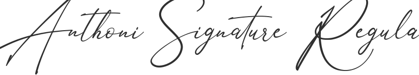 Anthoni Signature font download