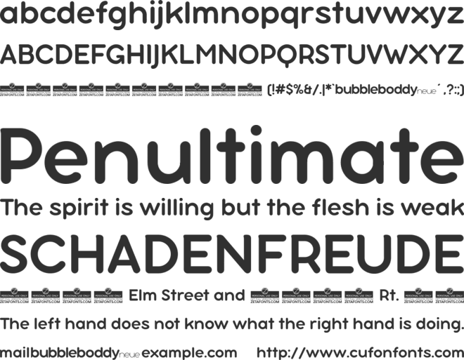 Bubbleboddy Neue Trial Font Family : Download Free for