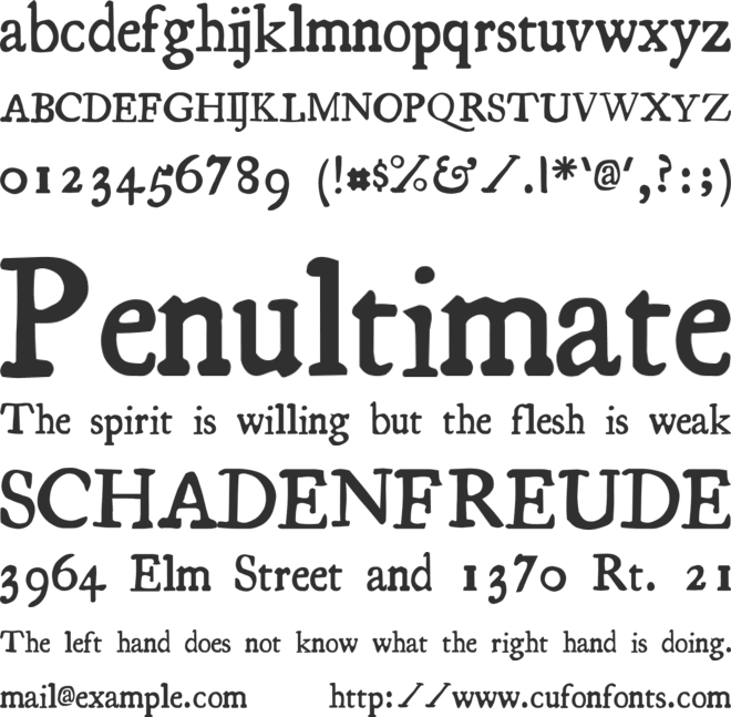 Essays 1743 font preview