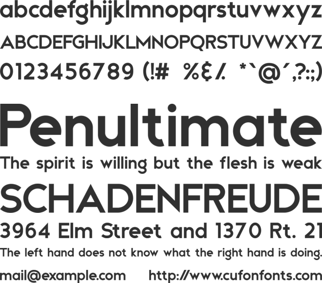 Andea font preview