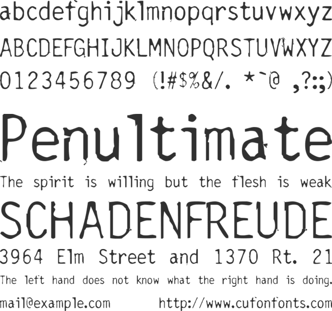 Carbonated Gothic font preview