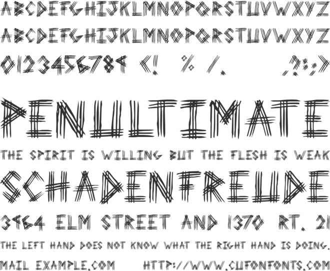 3 Prong Tree font preview