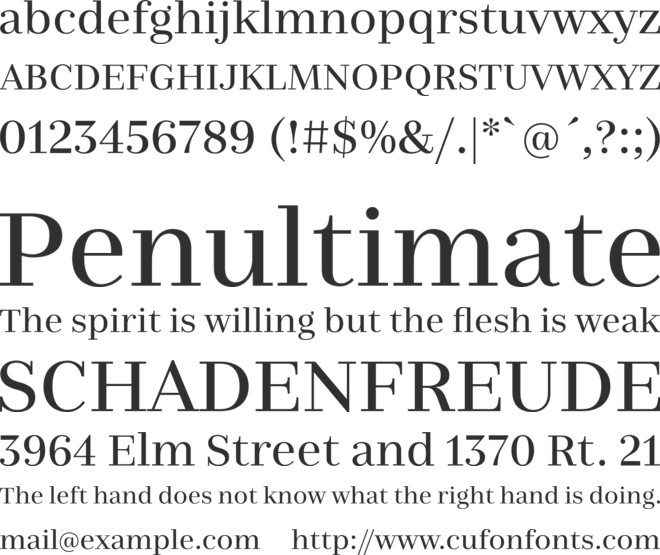 Nomada Didone font preview