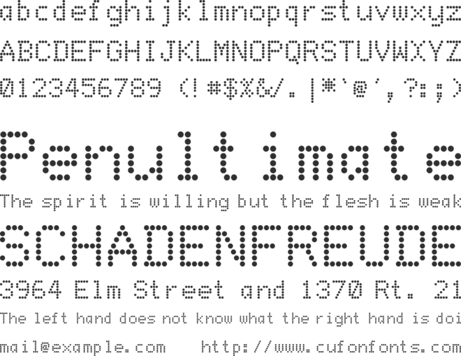 DotMatrix font preview