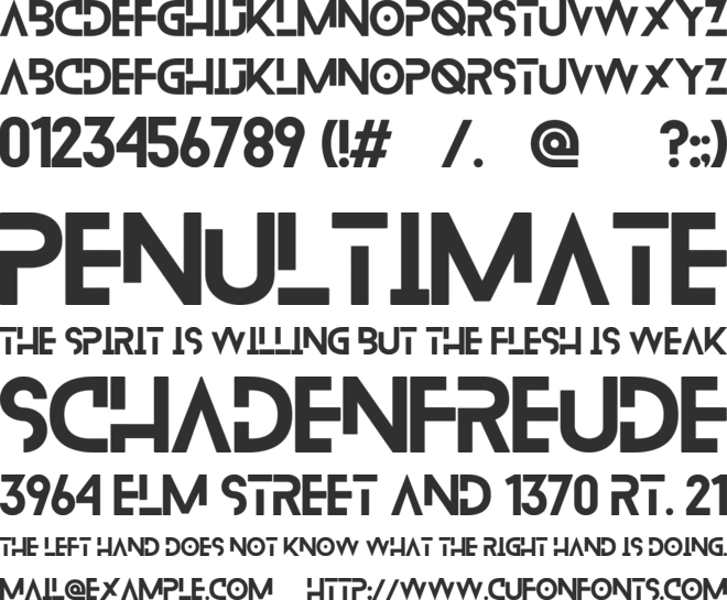 Blanka font preview