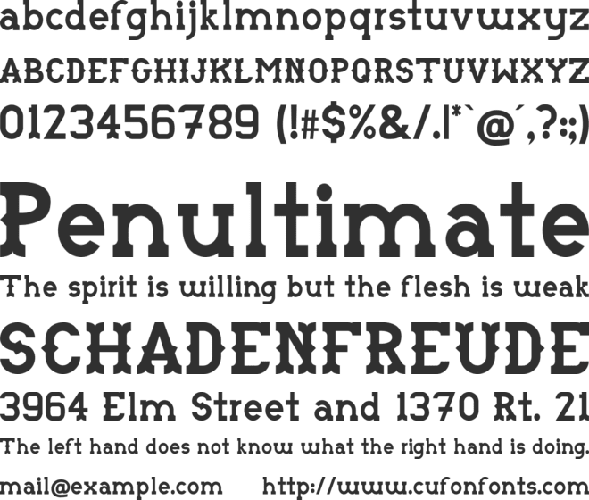 Monotonia font preview
