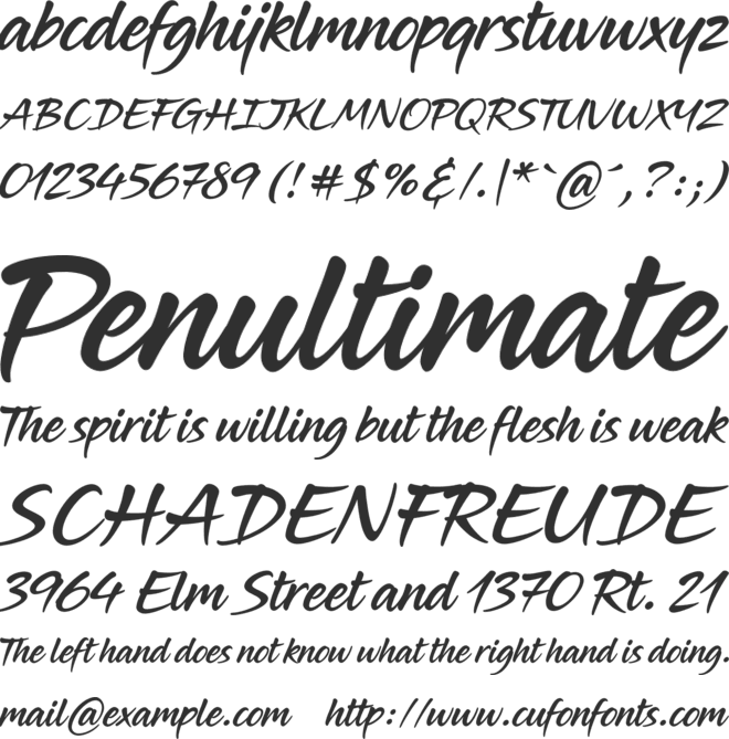 Midnight Drive font preview
