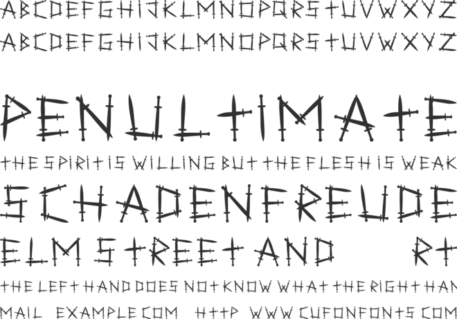 Swordlings font preview