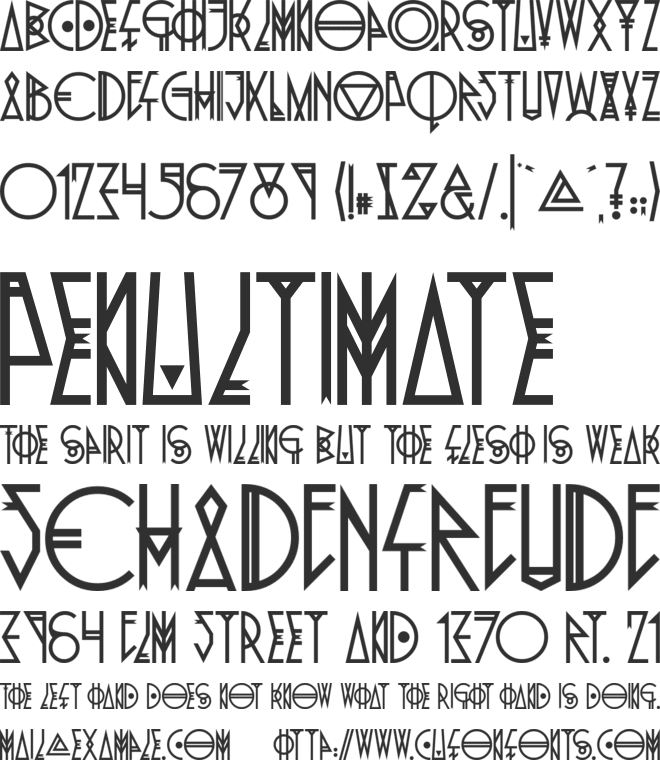 Pride Of The Young font preview
