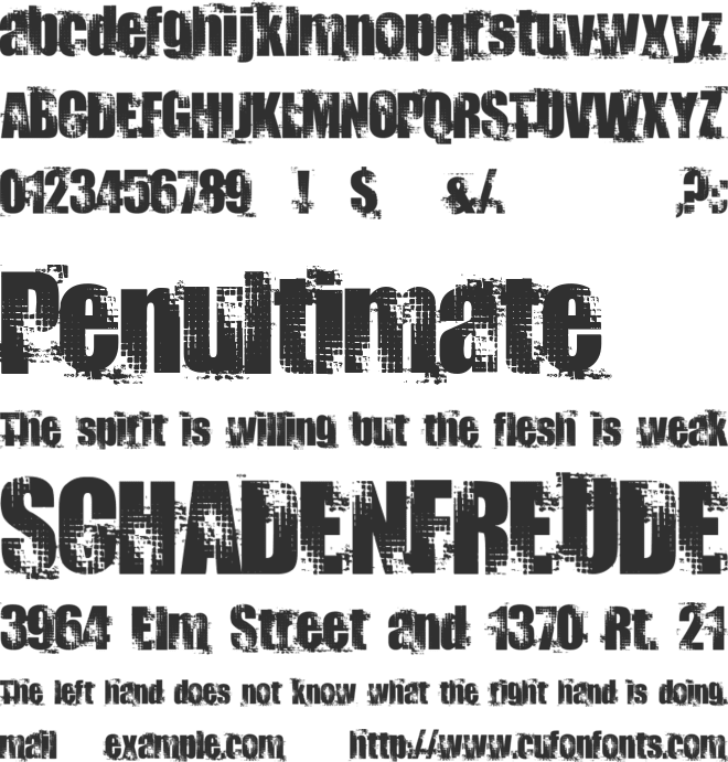 Docteur Atomic font preview