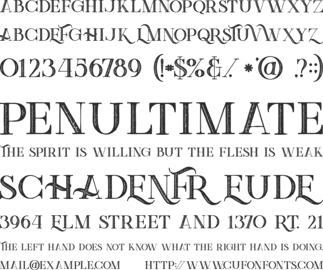 Green   Inline Grunge font preview