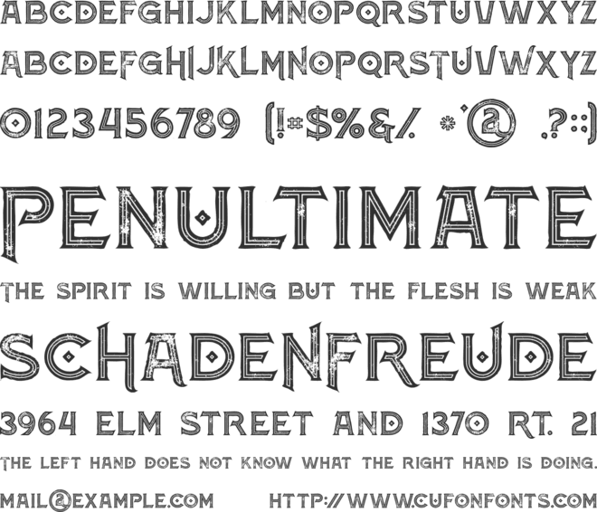 Atlantis Inline Grunge font preview