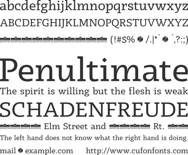 Radcliffe Display font preview