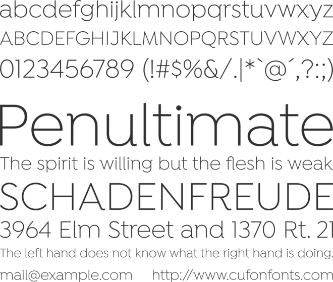 Isidora font preview