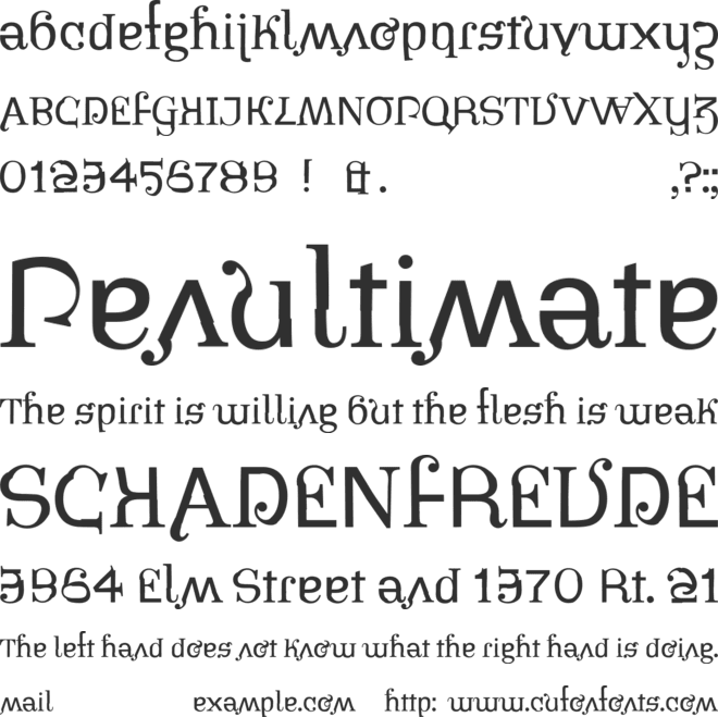 Pirates font preview