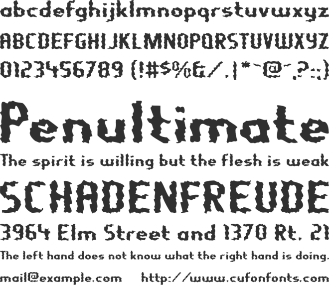 Nightporter font preview